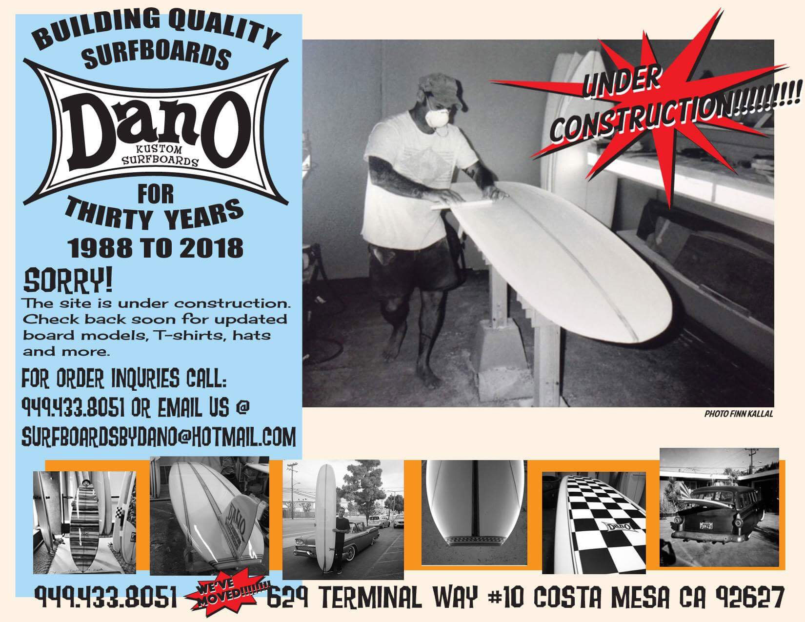 Dano Surfboards Custom Surfboard Shaping